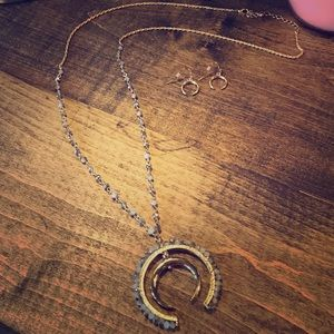 Gold Design Beaded Long Necklace